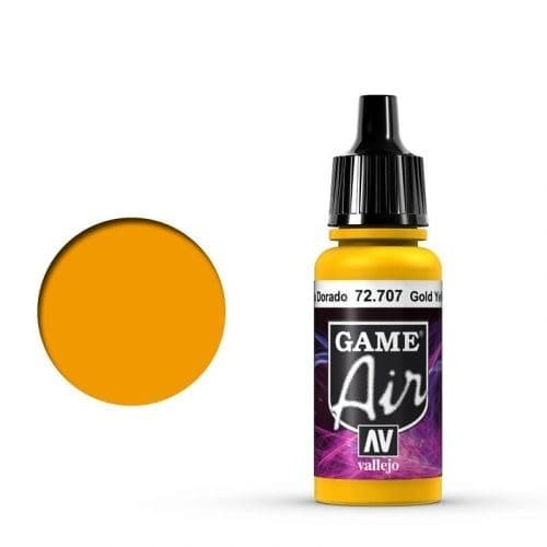 Vallejo Game Air 707 Gold Yellow, 17 ml