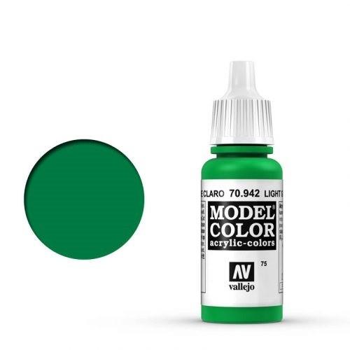 Vallejo Model Color: 075 Hellgrün (Light Green), 17 ml (942)