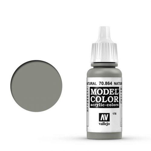 Vallejo Model Color: 178 Stahlgrau (Natural Steel), 17 ml (864)