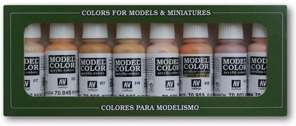 Vallejo Model Color: Set 24: Face/Skin Colours (8)