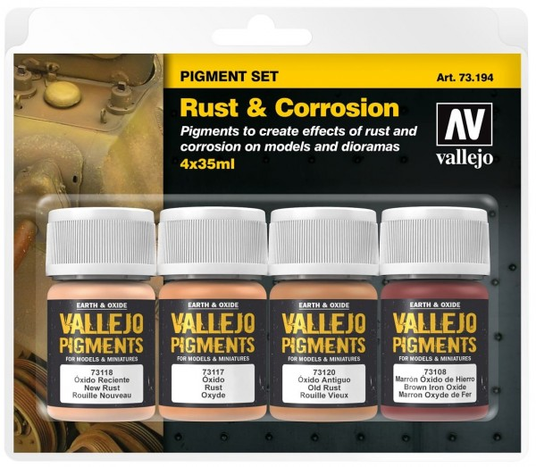 "Vallejo Pigment Set ""Rust & Corrosion"" (4)"