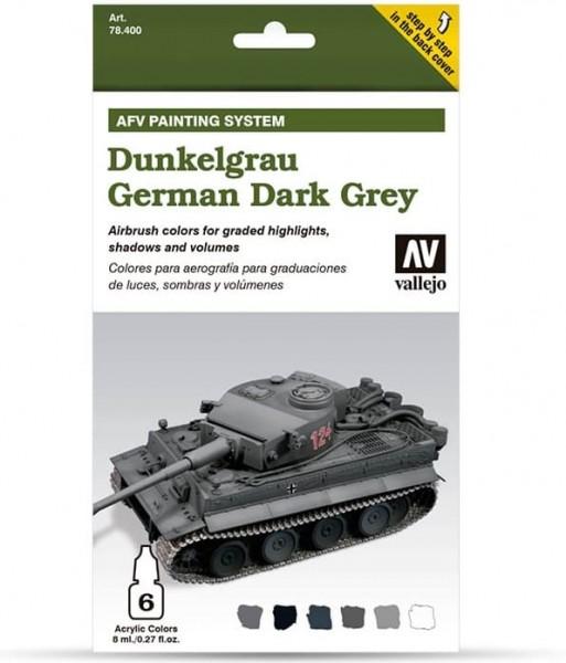 Model Air: Model Air Set AFV Dunkelgrau / German Dark Grey Set (8)