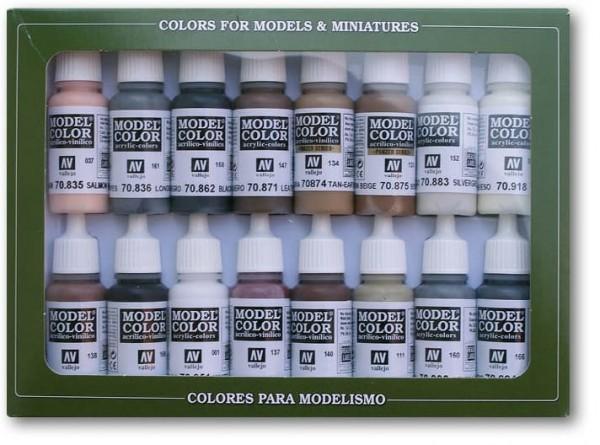 Vallejo Model Color: Set Equestrian Colors (16 Farben)