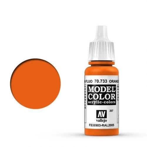 Vallejo Model Color: 207 Leuchtorange (Orange Fluo), 17 ml (733)