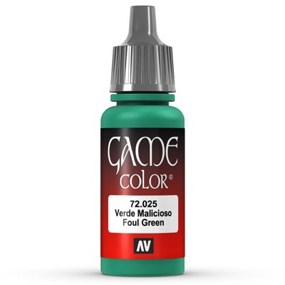 Vallejo Game Color: 025 Foul Green, 17 ml