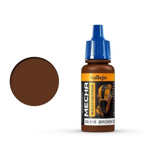 Mecha Color 818 Brown Eng. Soot (Matt) 17 ml.
