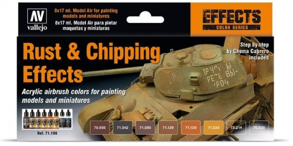 Model Air: Model Air Set Rust & Chipping Effects Set (8)