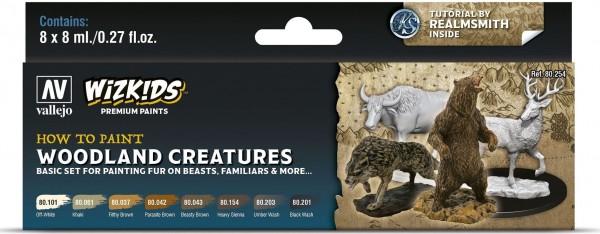 Vallejo Wizkids Premium: Woodland Creatures (8ml) (8)