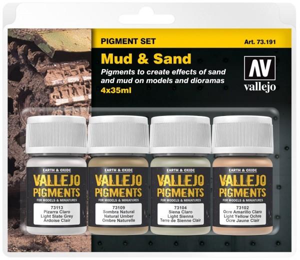 "Vallejo Pigment Set ""Mud & Sand"" (4)"