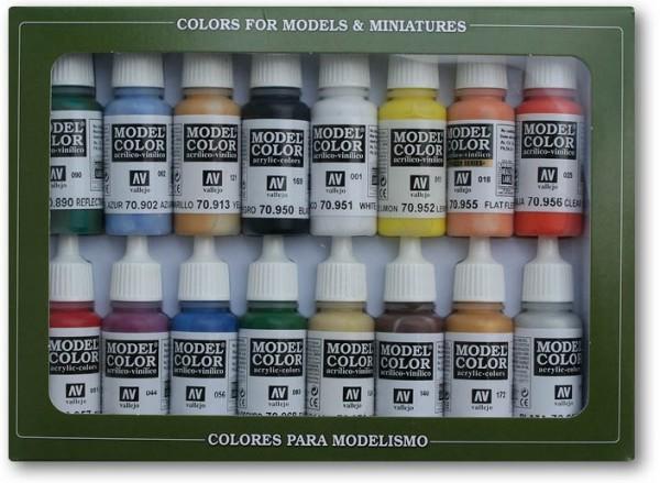 Vallejo Model Color: Set Basic Colors U.S.A. Colors (16 Farben)