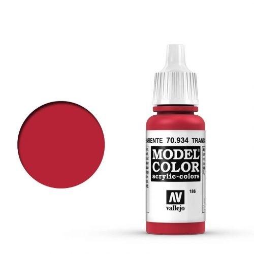 Vallejo Model Color: 186 Transparent Rot, 17 ml (934)