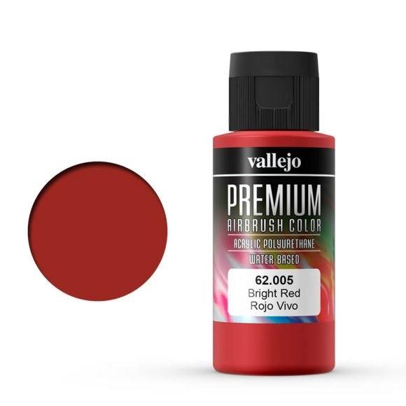 Vallejo Premium: Bright Red (Polyu.) (60ml)