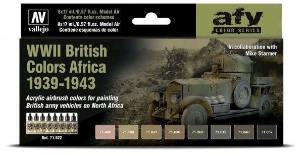 Model Air: WWII British Colors Africa 1939-1943 - AFV Series