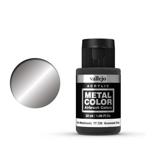 Vallejo Metal Color 720 Gunmetal Grey 32 ml.