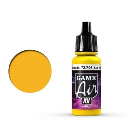 Vallejo Game Air 706 Sunblast Yellow, 17 ml