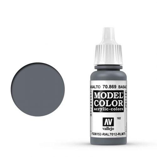 Vallejo Model Color: 162 Basaltgrau (Basaltgrey), 17 ml (869)