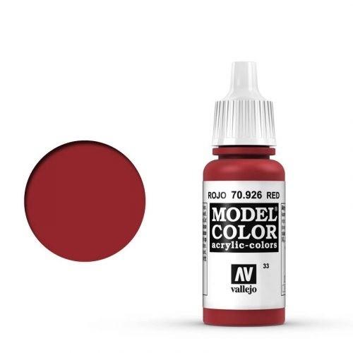 Vallejo Model Color: 033 Rot (Red), 17 ml (926)