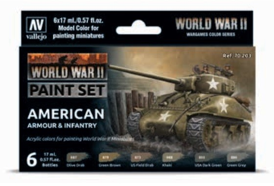 Vallejo Model Color: Model Color: WWII American Armour & Infantry