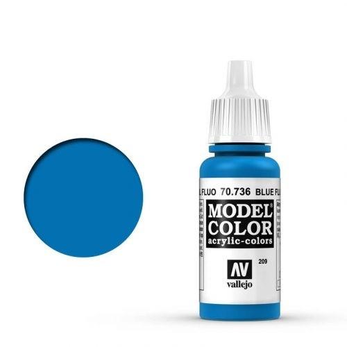 Vallejo Model Color: 209 Leuchtblau (Blue Fluo), 17 ml (736)