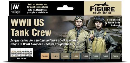 Vallejo Model Color: WWII US Tank Crew - Figure Color Series