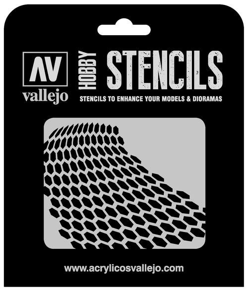 Vallejo Hobby Stencils: Distorted Honeycomb