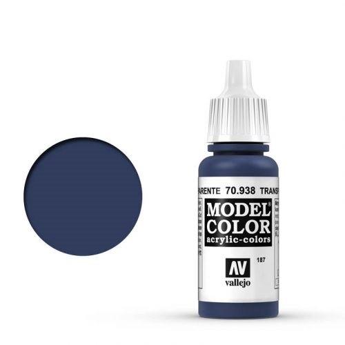 Vallejo Model Color: 187 Transparent Blau, 17 ml (938)