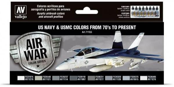 """Model Air: Model Air Set US NAVY & USMC Colors """"1970 to present"""" (8)"""