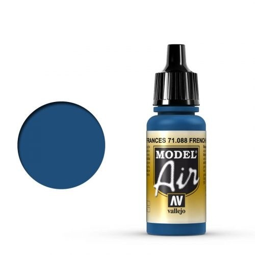 Vallejo Model Air: 088 French Blue, 17 ml