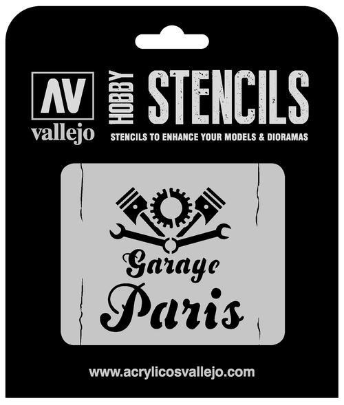Vallejo Hobby Stencils: Vintage Garage Sign Markings