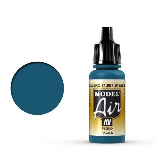 Vallejo Model Air: 087 Steel Blue, 17 ml