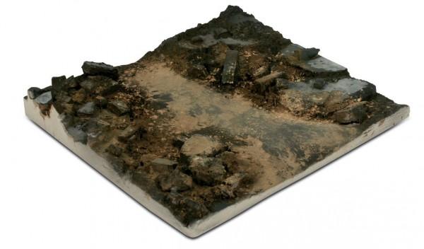 Scenics Diorama Bases: 14x14cm Rubble Street Section