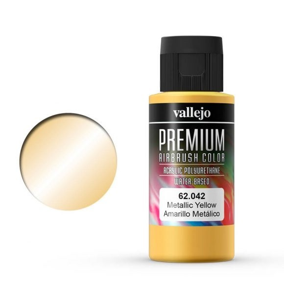Vallejo Premium: Metallic Yellow (Polyu.) (60ml)