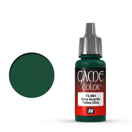Vallejo Game Color: 064 Yellow Olive, 17 ml