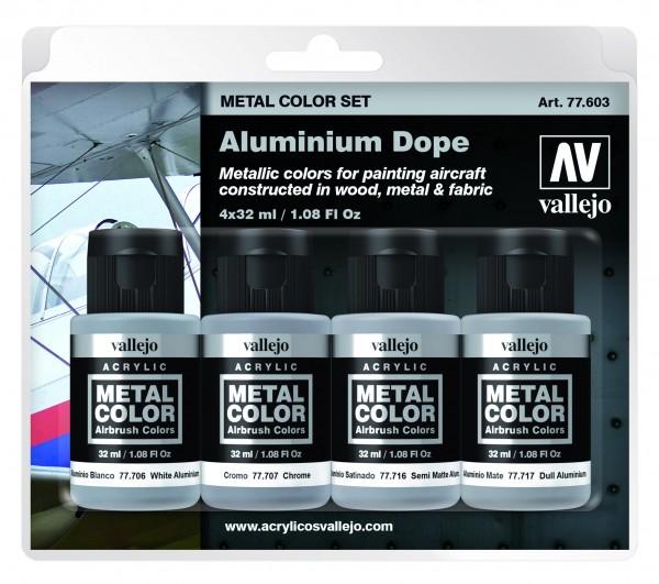 Vallejo Metal Color Aluminium Dope Set (4)