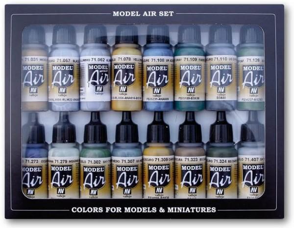 Model Air: Model Air Set WWII British Aircraft RAF & FAA Paint Set (16)