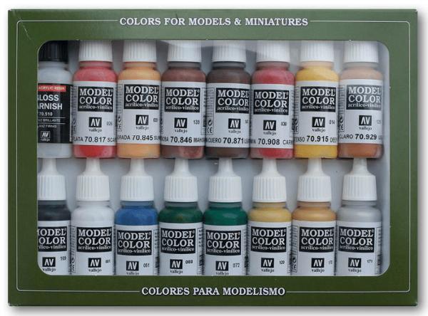 Vallejo Model Color: Set American Revolution Colors (16 Farben)