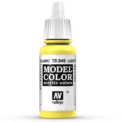 Vallejo Model Color: 010 Schwefelgelb (Light Yellow), 17 ml (949)