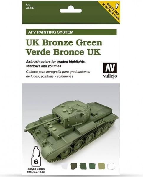 Model Air: Model Air Set AFV UK Bronzegrün / UK Bronze Green Set (6)