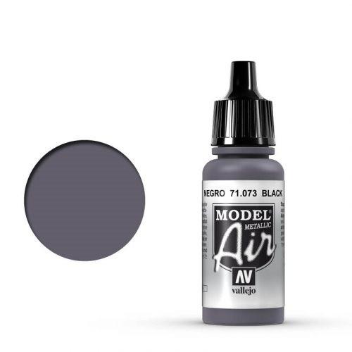 Vallejo Model Air: 073 Black Metal, 17 ml