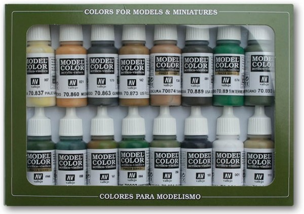 Vallejo Model Color: Set 09: WWII Allied Colours (16 Farben)