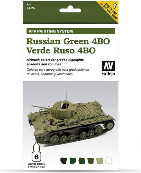 Model Air: Model Air Set AFV Russian Green 4BO Set (8)