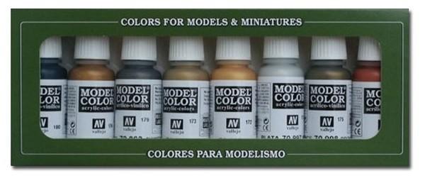 Vallejo Model Color: Metallic Color Set (8 Farben)
