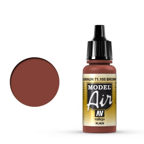 Vallejo Model Air: 71105 Braun/Brown (RLM 26) 17 ml