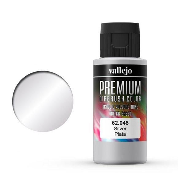 Vallejo Premium: Silver (Polyu.) (60ml)