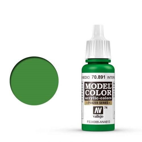 Vallejo Model Color: 074 Lichtgrün (Intermediate Green), 17 ml (891)