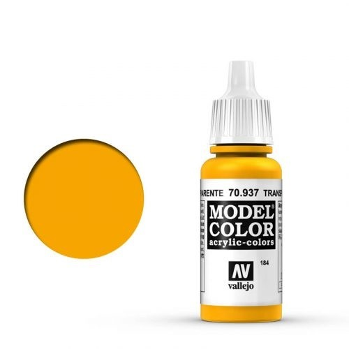 Vallejo Model Color: 184 Transparent Gelb, 17 ml (937)