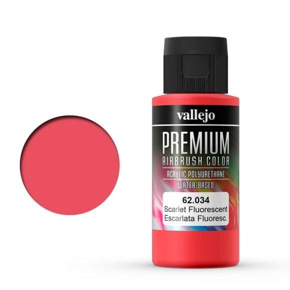 Vallejo Premium: Scarlet Fluo (Polyu.) (60ml)
