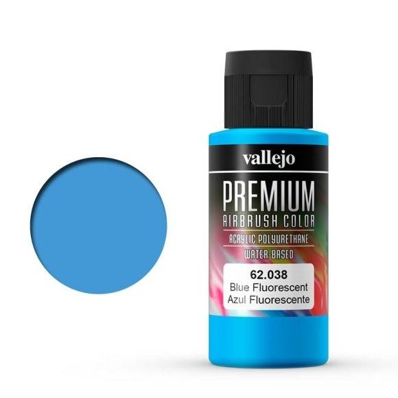 Vallejo Premium: Blue Fluo (Polyu.) (60ml)