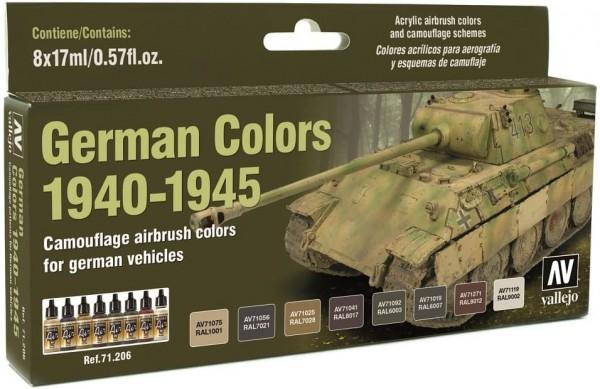 Model Air: Model Air Set German Vehicles Colors 1940-1945 (8)