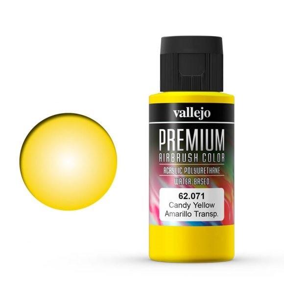 Vallejo Premium: Candy Yellow (Polyu.) (60ml)